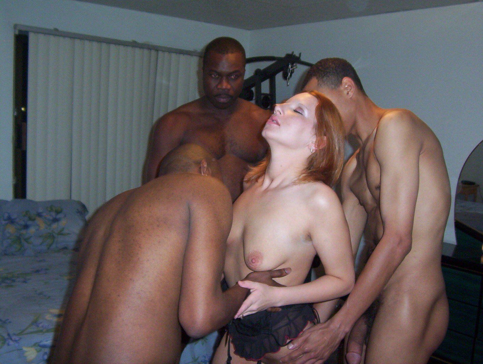 Naked black men with white women