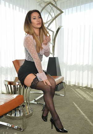 Watson recomended photo suspenders and in Self naked girls stockings