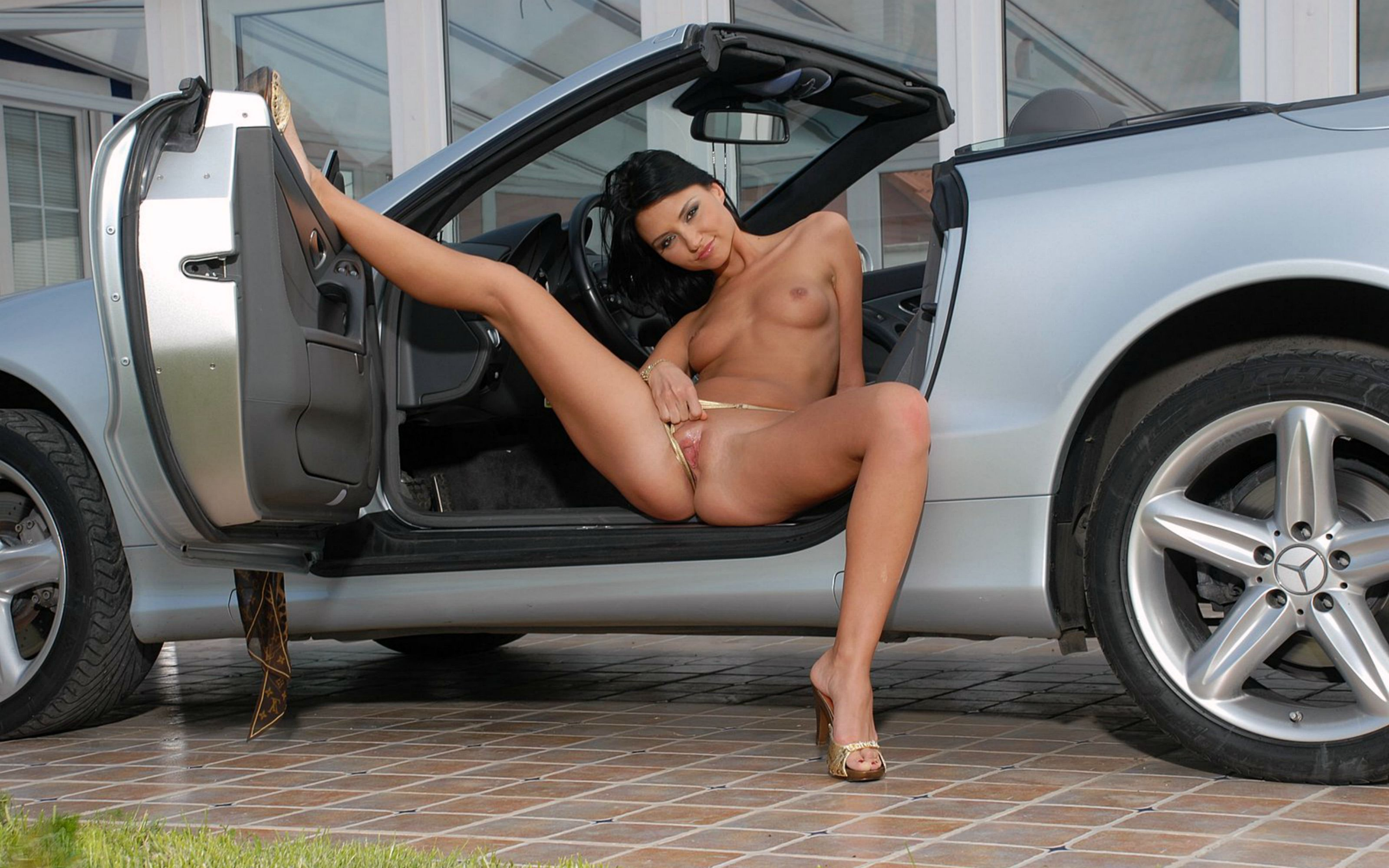 Nudes laying on cars new porn